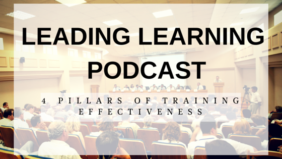 elearning training evaluations podcast