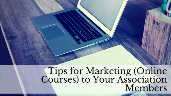 marketing online courses to members