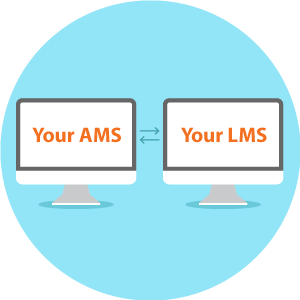 Your association LMS and your association management software should community seamlessly.