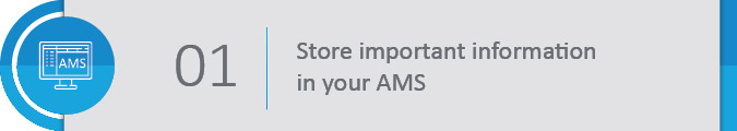 Store important information on your members' learning progress in your AMS.