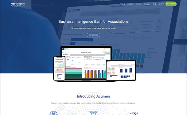 Acumen by Association Analytics is a great data analytics software for associations.
