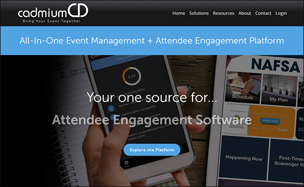 CadmiumCD is a great event management software for associations.
