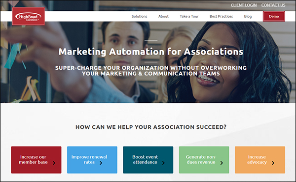 Highroad Solutions is a great marketing automation software for associations.