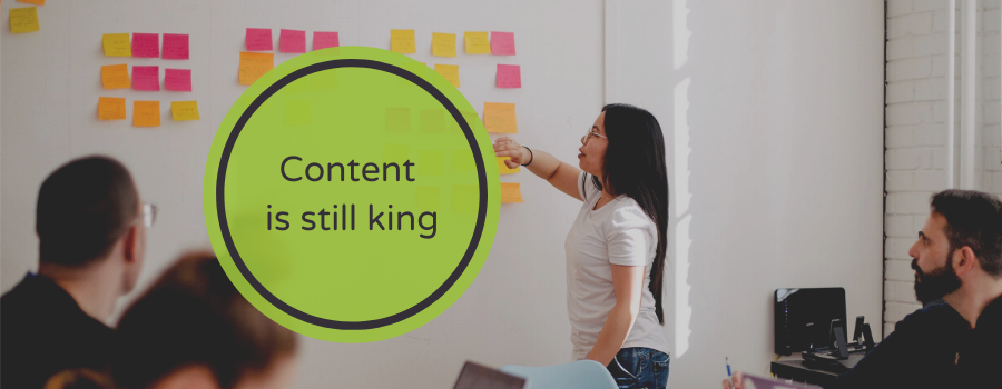 Content is kind in hybrid events.