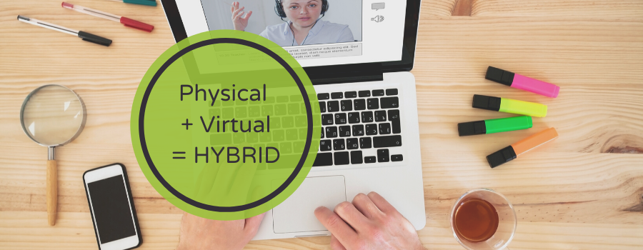 Hybrid events are a combination of physical and virtual experiences.