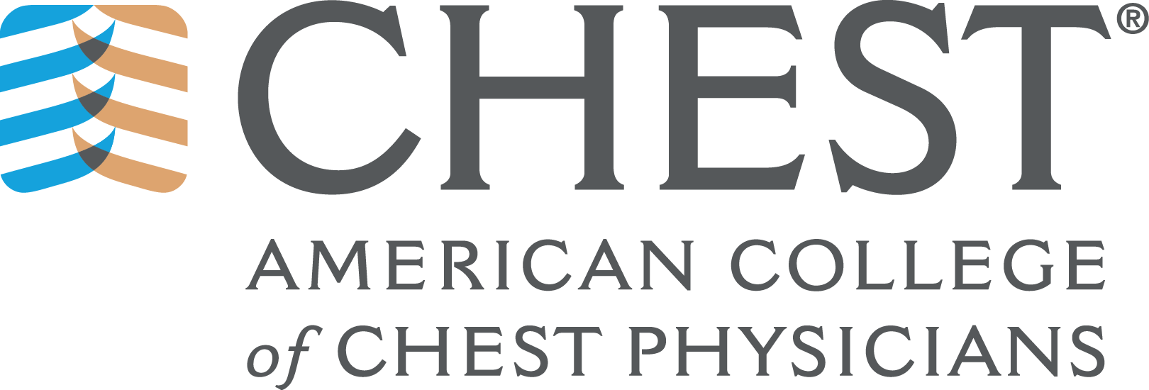 This image is the American College of Chest Physicians  logo.