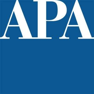 This image is the APA logo.