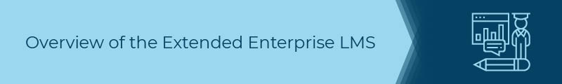 This section covers an overview of extended enterprise LMSs.
