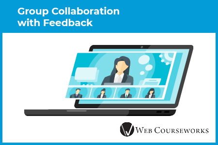 This graphic represents group discussion eLearning assessments.